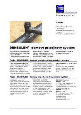 Densolen domový prípojkový systém