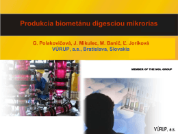 Digescia mikrorias na bioplyn