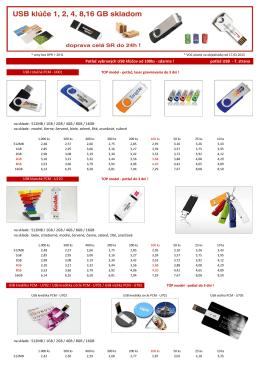 Potlač vybraných USB kľúčov od 100ks - zdarma ! potlač
