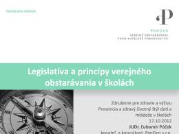 Legislatíva verejného obstarávania