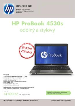 HP ProBook 4530s odolný a stylový
