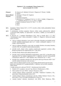 Výbor Snemu SAV č. 10 - Snem Slovenskej akademie vied