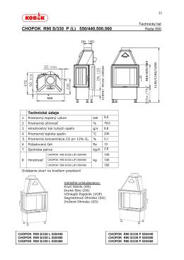 CHOPOK R90 S/330 P (L) 550/440,500,560