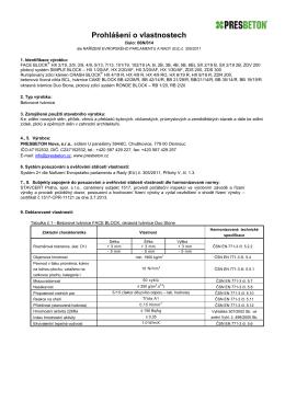 Prohlášení o vlastnostech - Tvárnice - Nova - CZ [PDF
