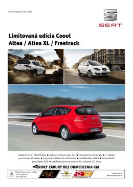 Limitovaná edícia Coool Altea / Altea XL / Freetrack
