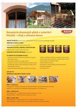 Renovácia drevených plôch v exteriéri PULLEX