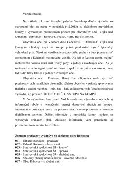 Oznámenie VV - Obec Vojka nad Dunajom