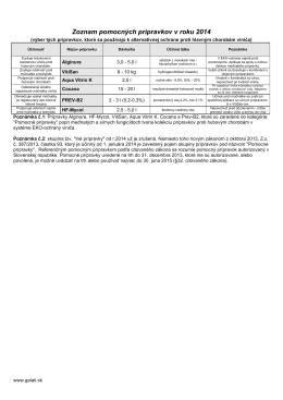 Zoznam Pomocných prípravkov (PDF)