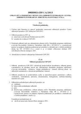 Smernica-ZSV-6-2013-Upravujuca-podmienky