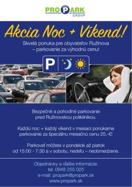 Akcia Noc + Víkend!