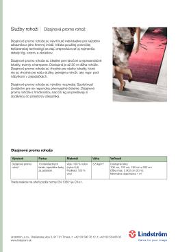 Služby rohoží Dizajnová promo rohož
