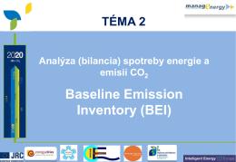 Príprava analýzy (bilancie) spotreby energie a