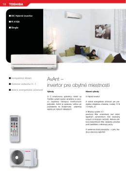 AvAnt – invertor pre obytné miestnosti