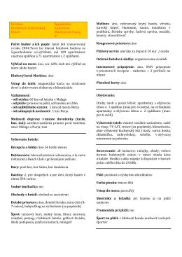 Krajina: Španielsko Destinácia (letovisko): Andalúzia Hotel: Marinas