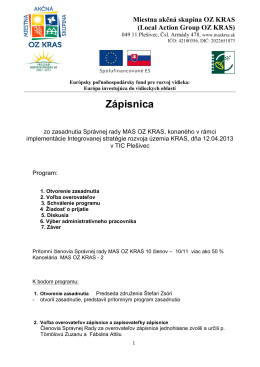 12.04.2013 Zápisnica.pdf - Občianske združenie Kras