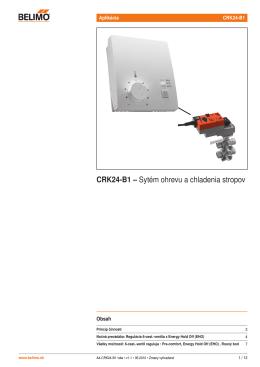 CRK24-B1 – Sytém ohrevu a chladenia stropov