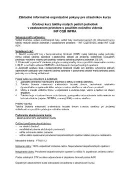 INF CQB INFRA [pdf] - Centrum výcviku Lešť