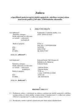 Špecifikačná zmluva TKO EKOPRES II. MČ4,5