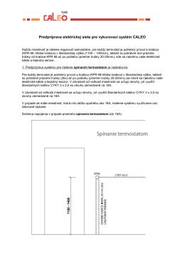 Predpríprava elektrickej siete pre vykurovací systém