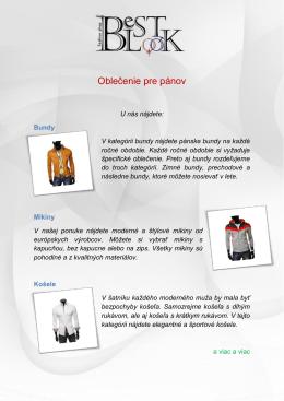 Oblečenie pre pánov