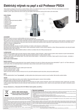 Elektrický mlýnek na pepř a sůl Professor PS524