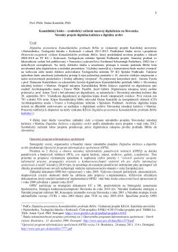 Prof. PhDr. Dušan Katuščák, PhD. Kamaldulský kódex – symbolický