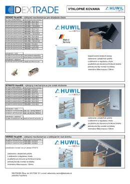 HUWIL leták výber - Dextrade Žilina, sro