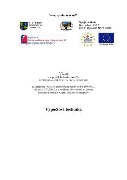 výzva dokument pdf - Spojená škola