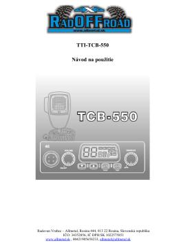 Vysielačka CB TTI 550.docx