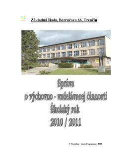 Hodnotiaca správa za šk. rok 2010/11