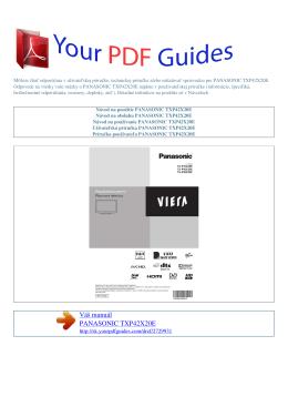 Návod na používanie PANASONIC TXP42X20E