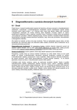 9 Diagnostikovanie a sanácia drevených konštrukcií