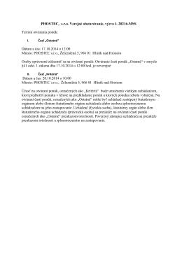 PHOSTEC, s.r.o. Verejné obstarávanie, výzva č. 20216