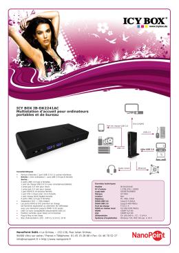 ICY BOX IB-DK2241AC Multistation d`accueil pour
