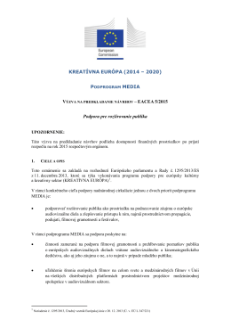 CALL FOR PROPOSALS – DG EAC N° 87/2004 - EACEA
