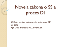 DI a novela - Z Domova domov