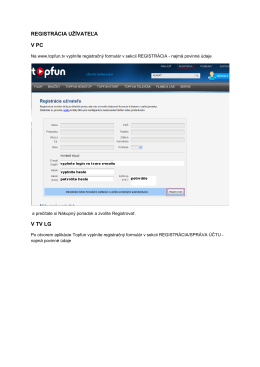 Návod na registráciu do Topfun