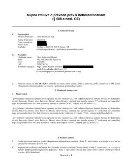 Zmluva o kúpe domu s.č. 91, zverejnená 17.10.2014