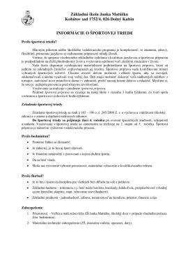 Základné informácie - Základná škola Janka Matúšku