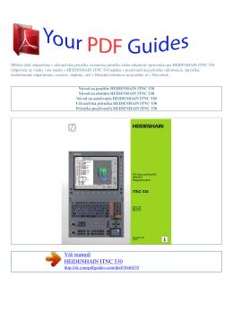 Návod na používanie HEIDENHAIN ITNC 530