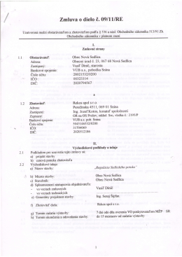 Zmluva c. 911RE-Rekos spol s r.o. Snina