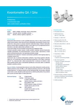 QA/QAe SK01 data sheet Slovak, 29/08/2012 (ling