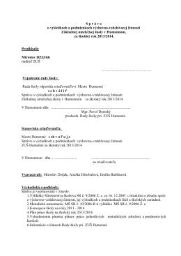 V Z O R - Základná umelecká škola, Mierová 81, Humenné