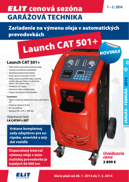 Launch CAT 501+