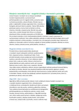 Hnojivá z morských rias – magické účinky v harmónii s