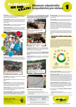 Minimum odpadového hospodárstva pre občana