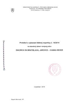 14/2014 - Ministerstvo dopravy, výstavby a regionálneho rozvoja SR