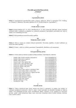 Pravidlá reklamnej súťaže Opávia-LU, a