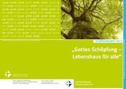 """""""gottes Schöpfung – Lebenshaus für alle"""""""
