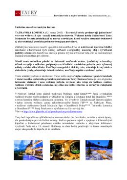Unikátna masáž tatranským drevom TATRANSKÁ LOMNICA (12